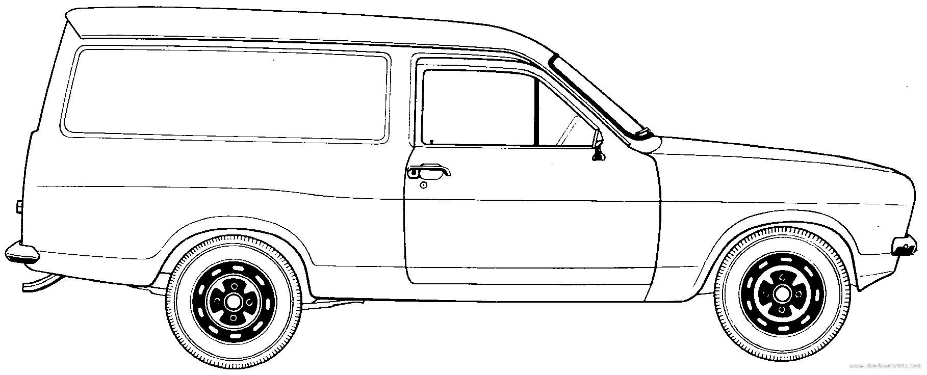 Blueprints > Cars > Ford > Ford Escort Mk.II Van (1975)