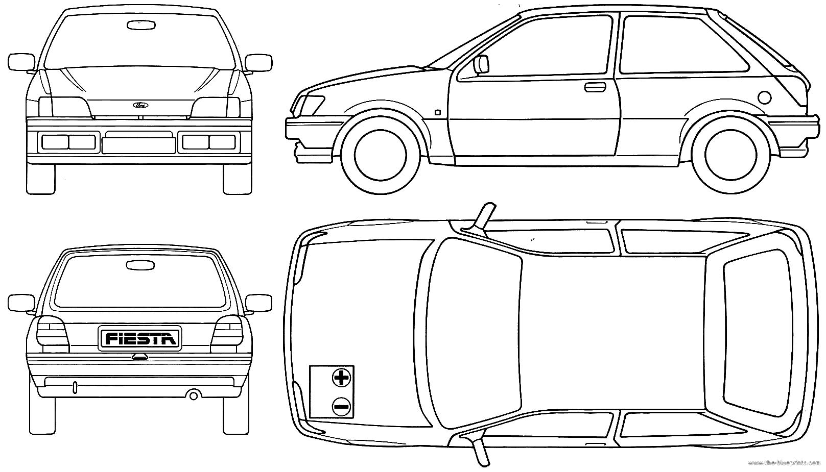 Blueprints > Cars > Ford > Ford Fiesta 3-Door (1990)