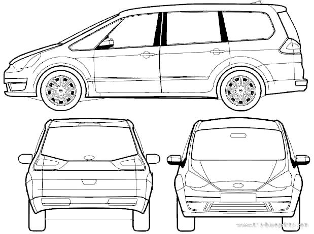 Blueprints > Cars > Ford > Ford Galaxy (2011)