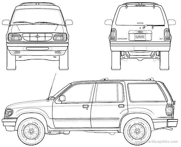 Blueprints > Cars > Ford > Ford Explorer (1998)