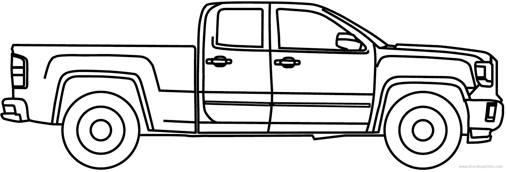 Blueprints > Cars > GMC > GMC Sierra 2500 HD EC (2015)