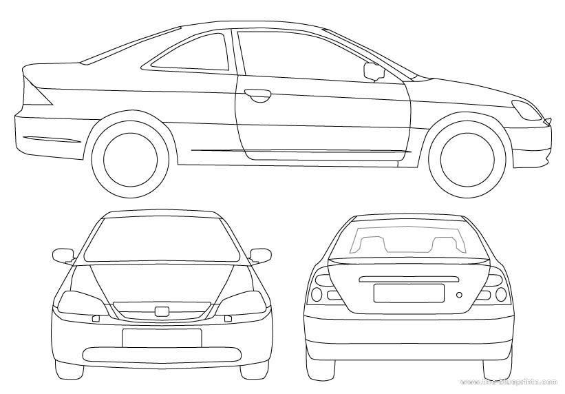 Blueprints > Cars > Honda > Honda Civic Coupe
