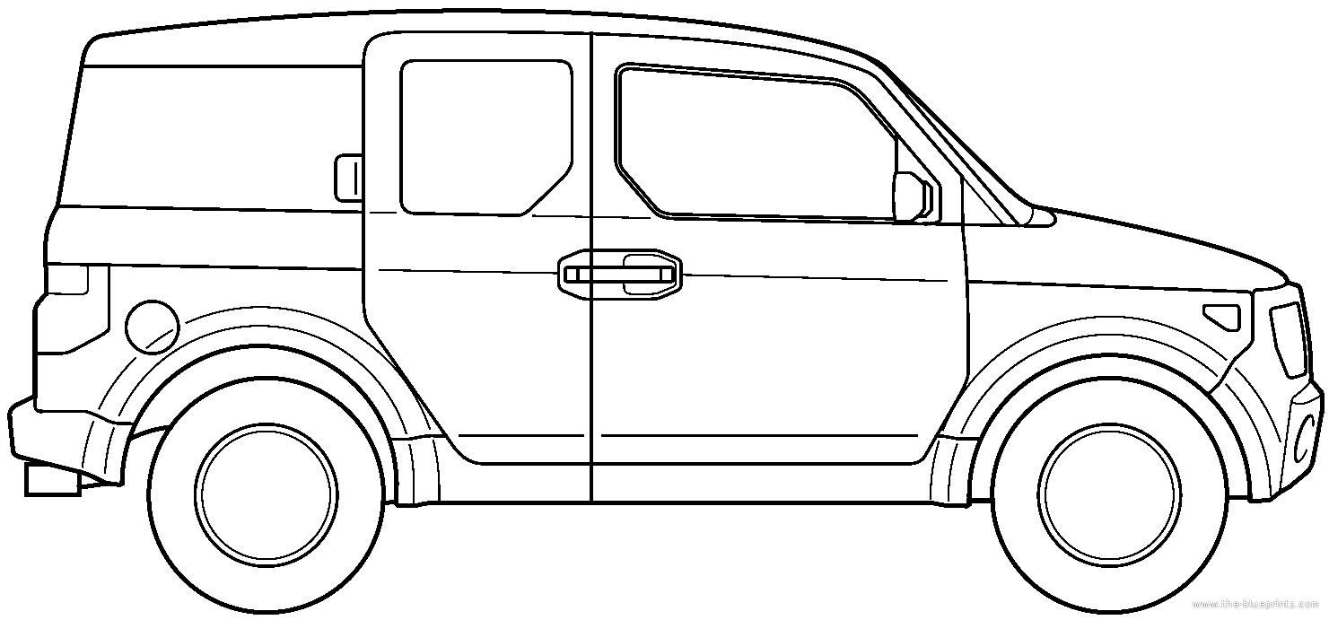 Blueprints > Cars > Honda > Honda Element (2006)
