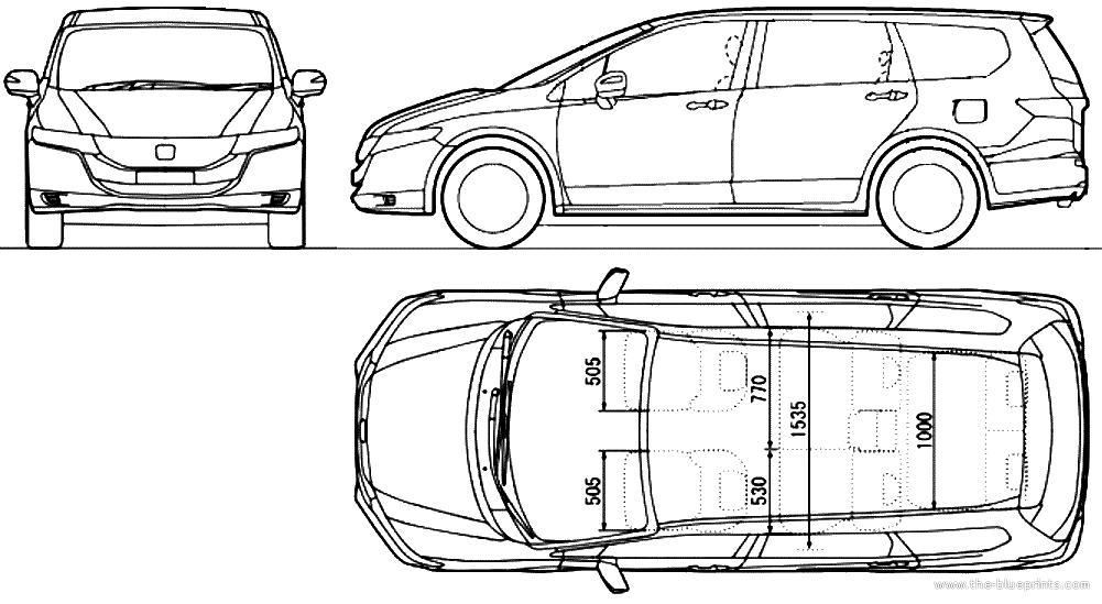 Blueprints > Cars > Honda > Honda Odyssey (2013)