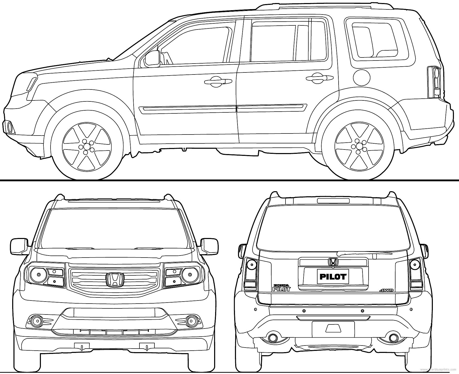 Blueprints > Cars > Honda > Honda Pilot (2013)