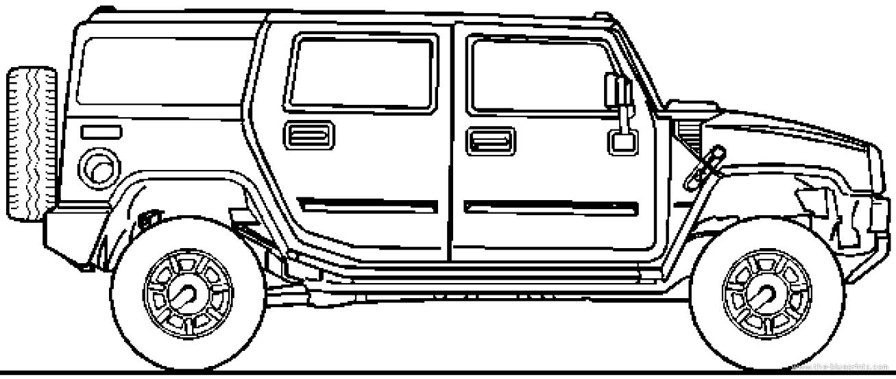 Blueprints > Cars > Hummer > Hummer H2 (2006)