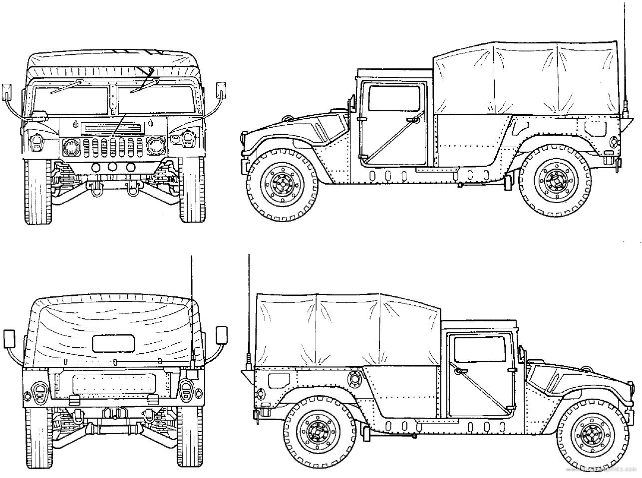 Blueprints > Cars > Hummer > M1025 HMMWV