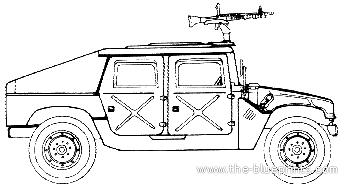 Blueprints > Cars > Hummer > M1025 M60 HMMWV