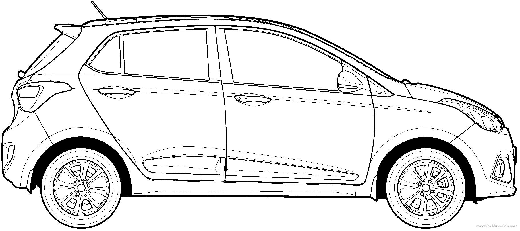 Blueprints > Cars > Hyundai > Hyundai Grand i10 (2014)