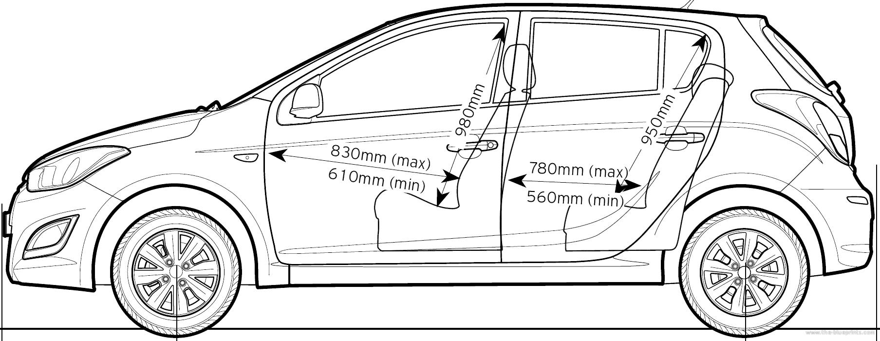 Blueprints > Cars > Hyundai > Hyundai i20 (2013)