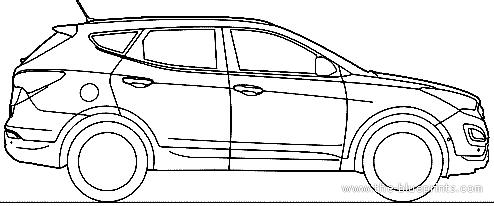 Blueprints > Cars > Hyundai > Hyundai Santa Fe (2014)