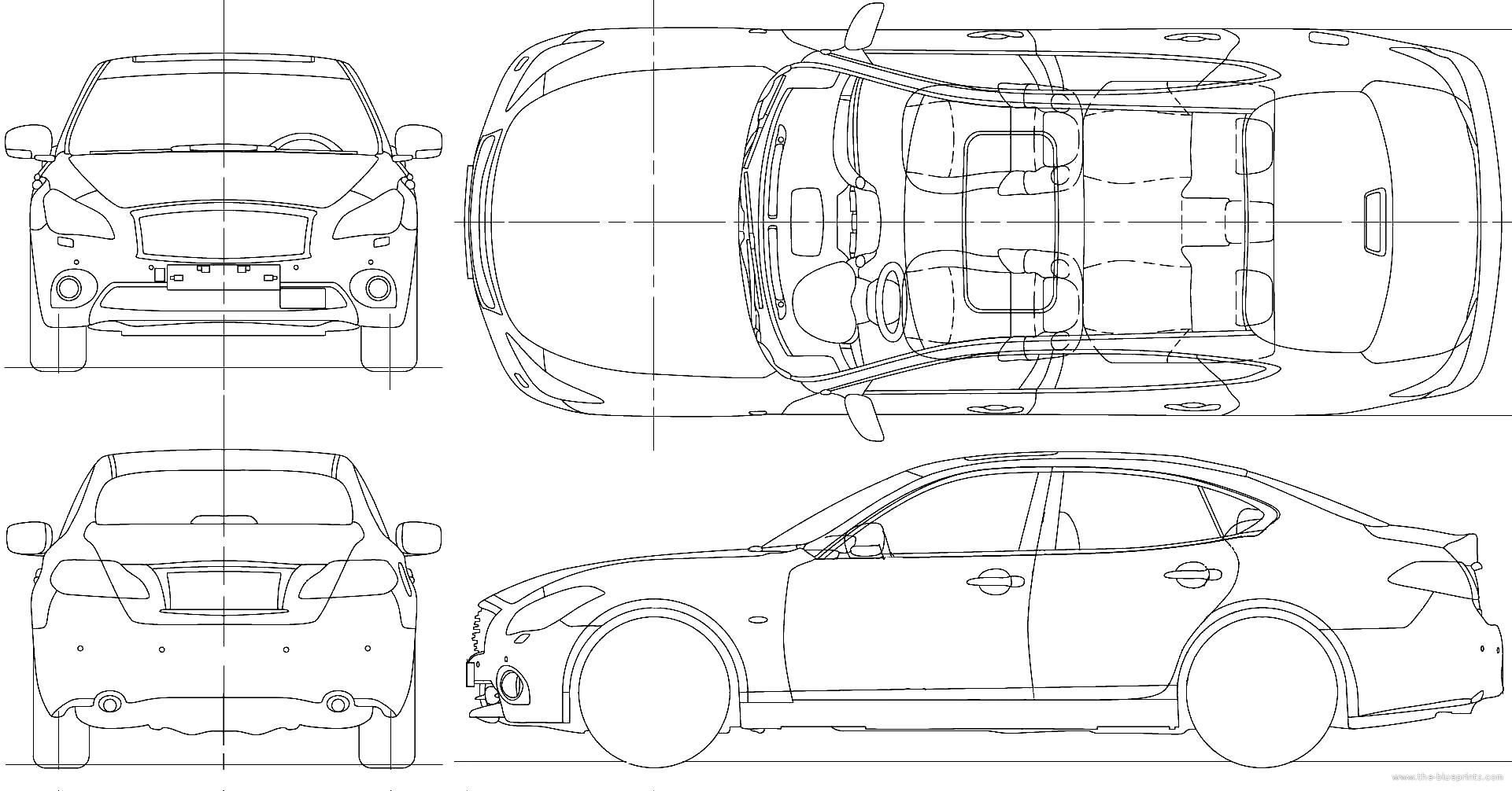 Blueprints > Cars > Infiniti > Infiniti M45 (2010)