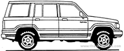 Blueprints > Cars > Isuzu > Isuzu Trooper 5-Door (1999)