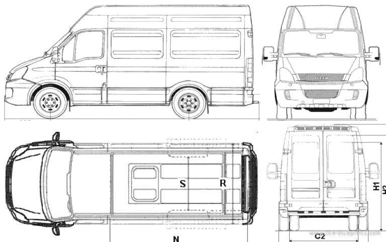 Blueprints > Cars > Iveco > Iveco ECODaily 35C13 Furgone