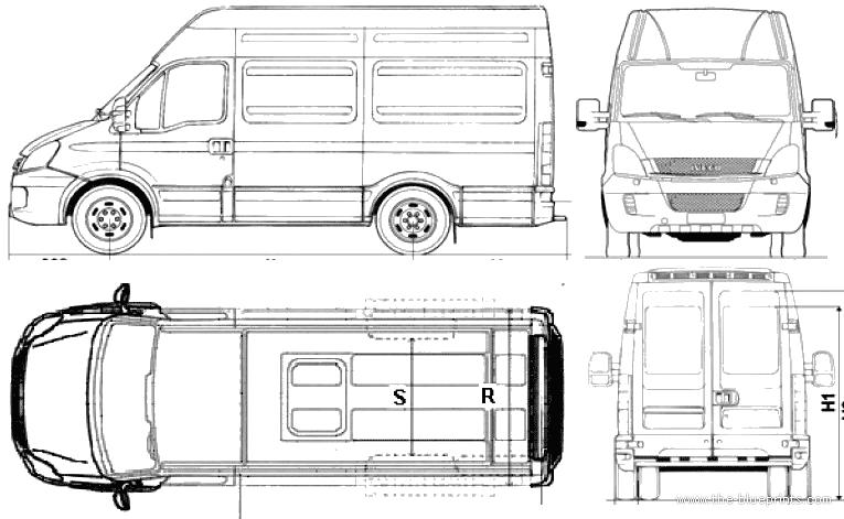 Blueprints > Cars > Iveco > Iveco ECODaily 35C15 Furgone