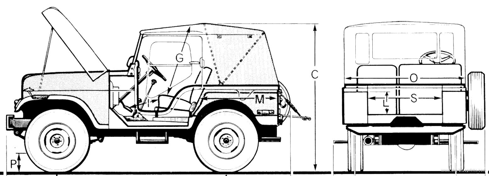 Blueprints > Cars > Jeep > Jeep CJ5 (1974)