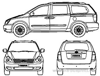 Blueprints > Cars > Kia > Kia Carnival (2012)