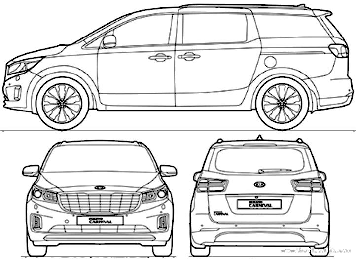 Blueprints > Cars > Kia > Kia Carnival (2015)
