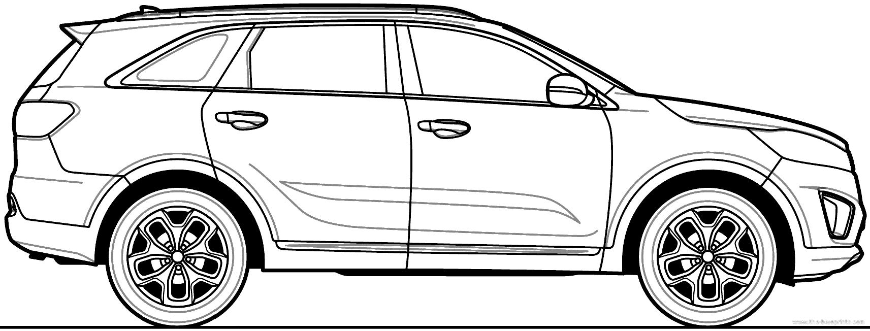 Blueprints > Cars > Kia > Kia Sorento (2015)