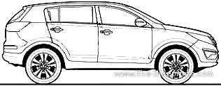 Blueprints > Cars > Kia > Kia Sportage 2.0 CRDi (2010)