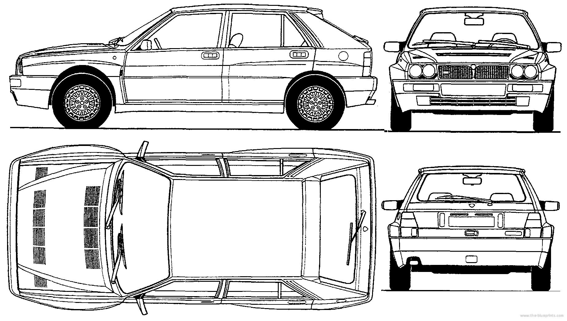Blueprints > Cars > Lancia > Lancia Delta HF Integrale (1993)
