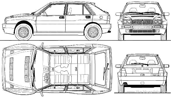 Blueprints > Cars > Lancia > Lancia Delta HF Integrale Evo II