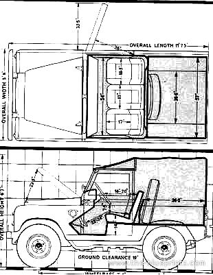 Blueprints > Cars > Land Rover > Land Rover 88 SWB (1973)