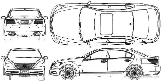 Blueprints > Cars > Lexus > Lexus LS460l (2008)