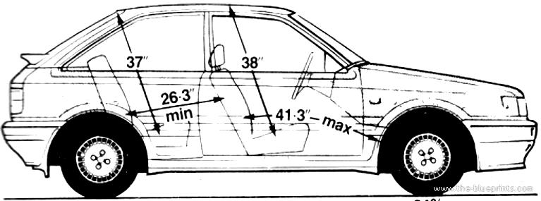 Blueprints > Cars > Mazda > Mazda 323 4x4 Turbo (1986)