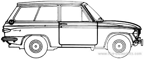 Blueprints > Cars > Mazda > Mazda 323 Familia 800 Estate