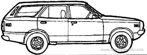 Blueprints > Cars > Mazda > Mazda 818 Estate (1973)