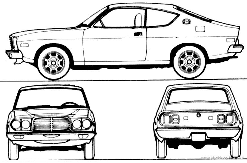 Blueprints > Cars > Mazda > Mazda 929 Coupe (1973)
