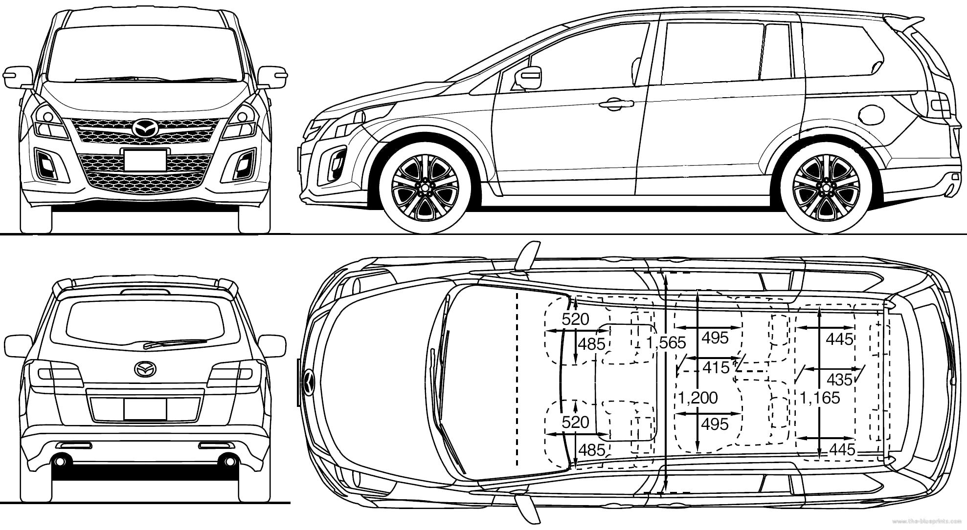Blueprints > Cars > Mazda > Mazda MPV (2010)