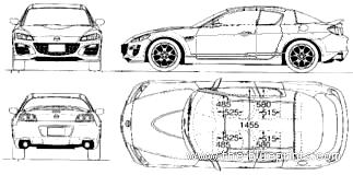 Blueprints > Cars > Mazda > Mazda RX-8