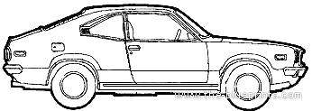 Blueprints > Cars > Mazda > Mazda RX3 Coupe (1973)