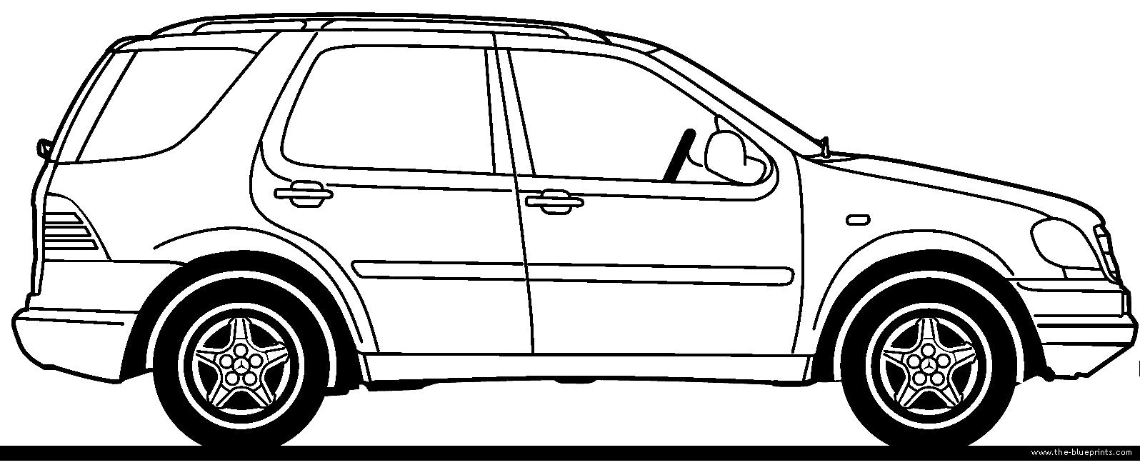 Blueprints > Cars > Mercedes-Benz > Mercedes-Benz ML-Class
