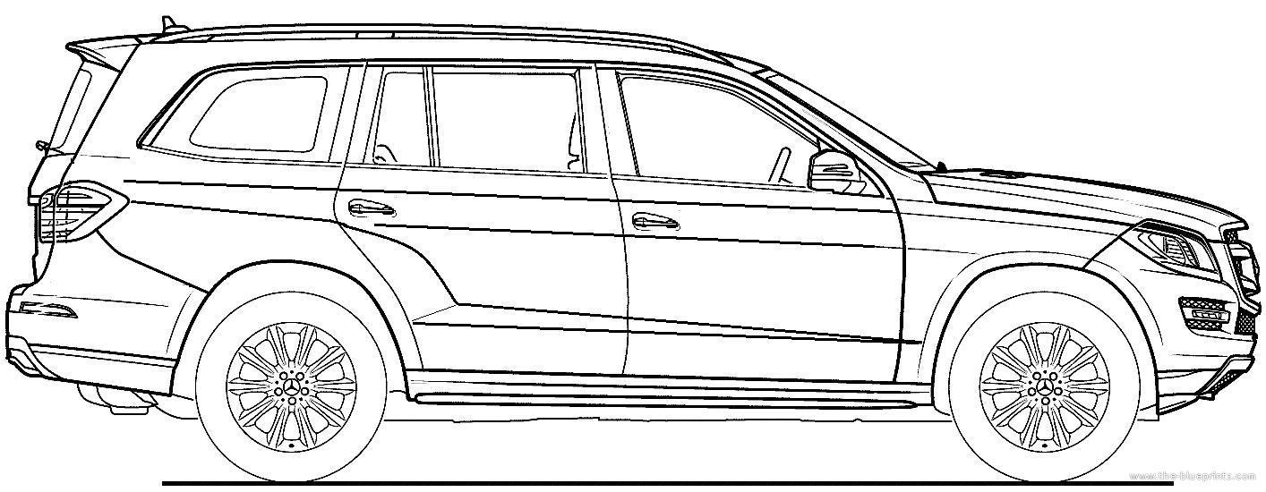 Blueprints > Cars > Mercedes-Benz > Mercedes-Benz GL (2015)