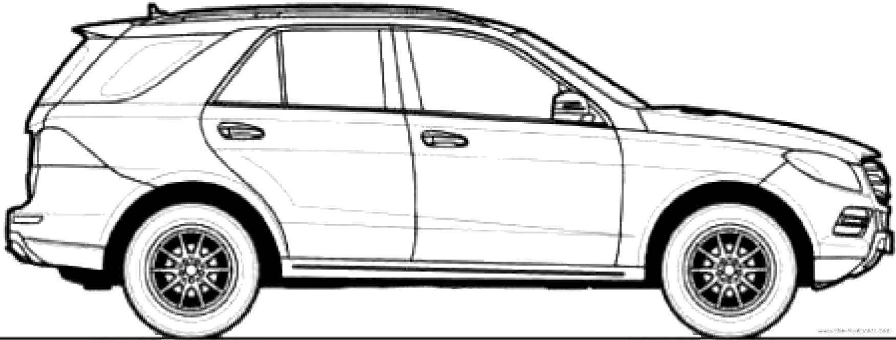 Blueprints > Cars > Mercedes-Benz > Mercedes-Benz ML250 (2013)