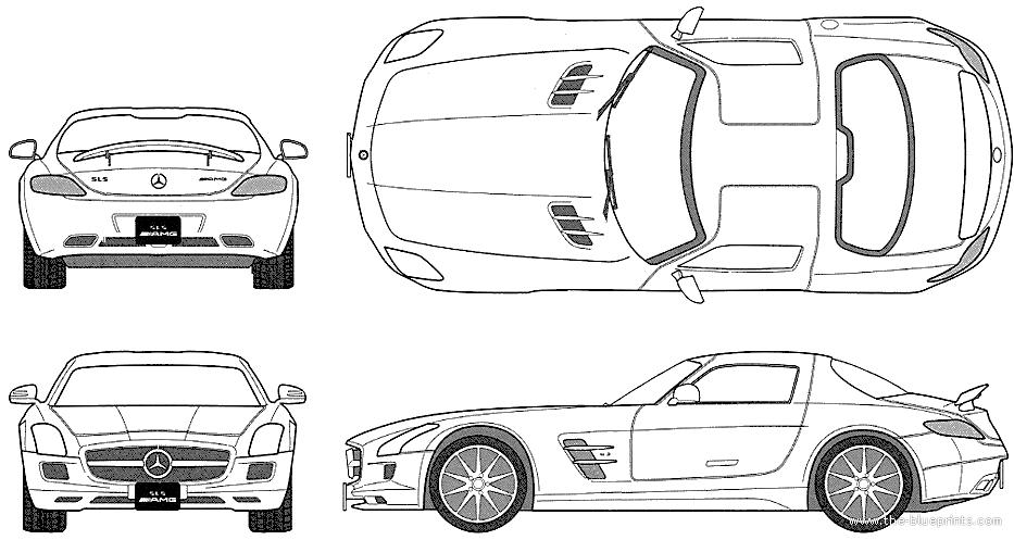 Blueprints > Cars > Mercedes-Benz > Mercedes-Benz SLS AMG