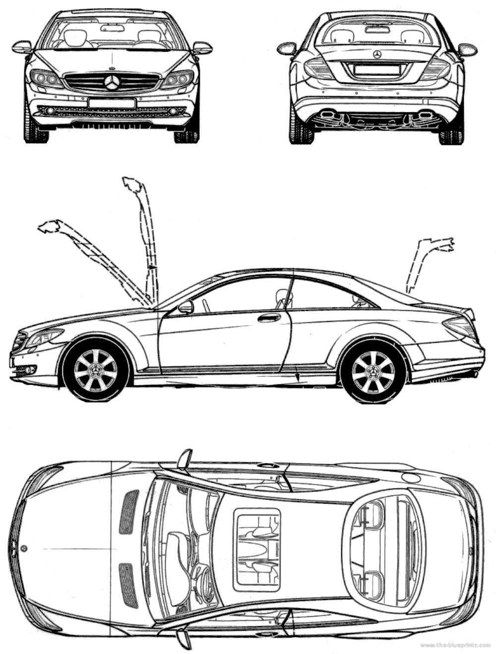 Blueprints > Cars > Mercedes-Benz > Mercedes-Benz SLK 230