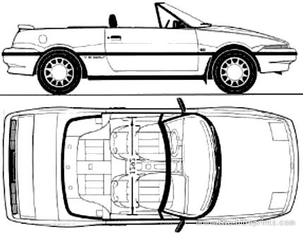 Blueprints > Cars > Mercury > Mercury Capri SC XR2 (1992)
