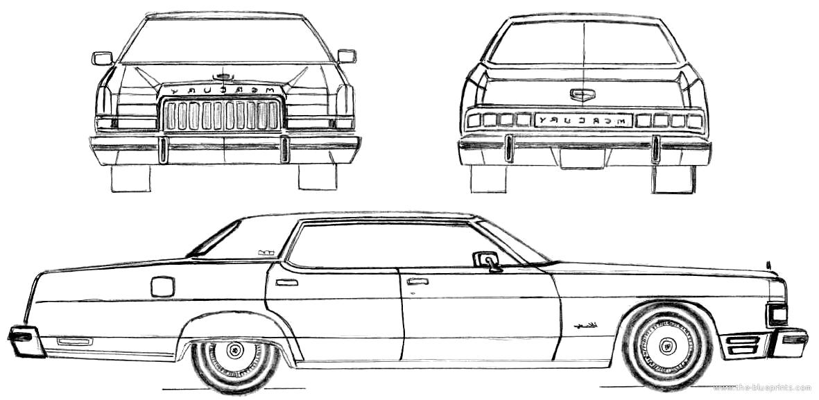 Blueprints > Cars > Mercury > Mercury Marquis Hardtop (1974)