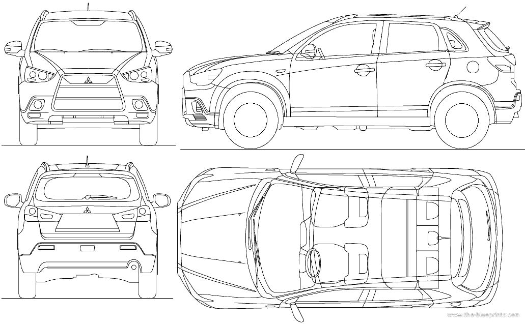 Blueprints > Cars > Mitsubishi > Mitsubishi ASX (2010)