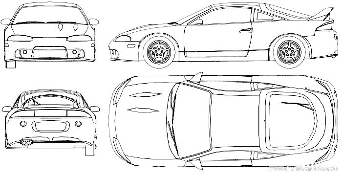 Blueprints > Cars > Mitsubishi > Mitsubishi Eclipse (1995)