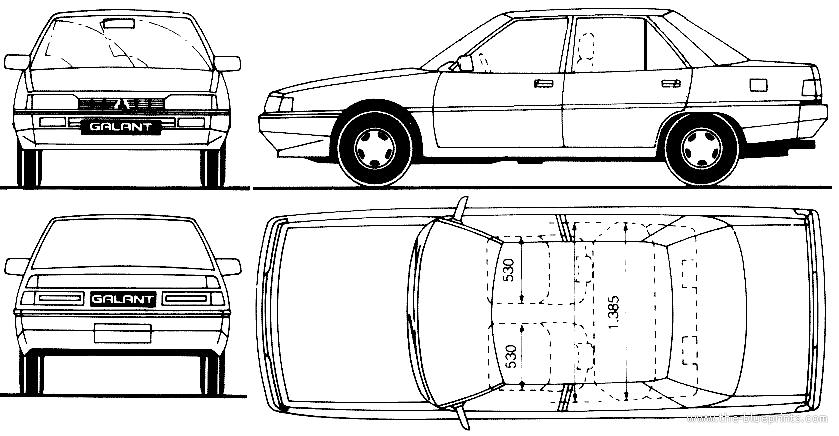 Blueprints > Cars > Mitsubishi > Mitsubishi Galant 4-Door