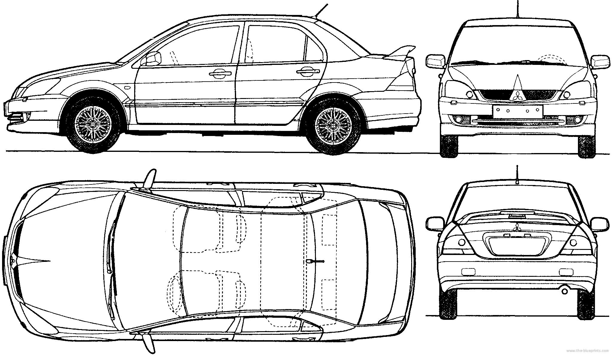 Blueprints > Cars > Mitsubishi > Mitsubishi Lancer (2005)