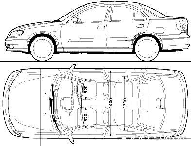 Blueprints > Cars > Nissan > Nissan Bluebird Sylphy G10 (2005)
