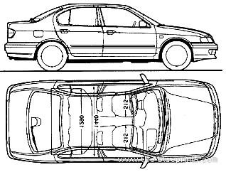 Blueprints > Cars > Nissan > Nissan Primera P11 4-Door (1998)