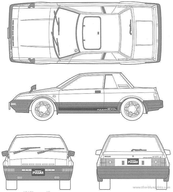Blueprints > Cars > Nissan > Nissan Pulsar EXA N12 (1985)