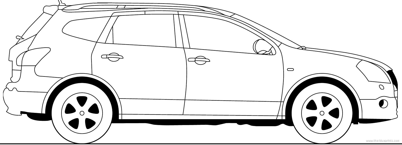 Blueprints > Cars > Nissan > Nissan Qashqai +2 (2013)
